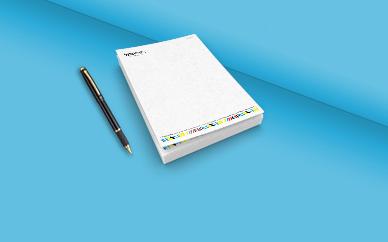 נייר מכתבים A6 - צבעוני